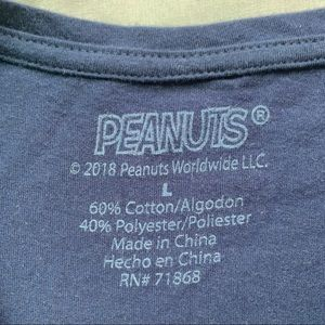 Peanuts Tops - Peanuts Snoopy Navy Blue T-shirt Size Large